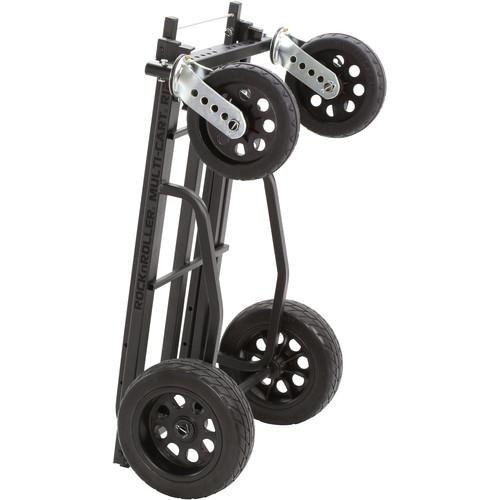 MultiCart RocknRoller R12STEALTH 8-in-1 All-Terrain Equipment Cart - Rock and Soul DJ Equipment and Records