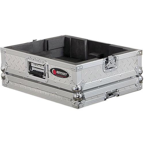 Odyssey Innovative Designs FTTDIA Flight-Zone Turntable Case (Textured Silver)