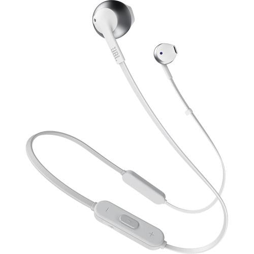JBL TUNE 205BT Wireless Bluetooth Earbud Headphones (Silver) - Rock and Soul DJ Equipment and Records