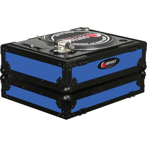 Odyssey Innovative Designs FR1200BKBLUE Flight Ready Series Turntable Case - Rock and Soul DJ Equipment and Records