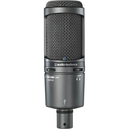 Audio-Technica AT2020USB+ Cardioid Condenser USB Microphone - Rock and Soul DJ Equipment and Records
