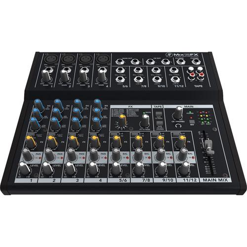 Mackie Mix12FX - 12-Channel Compact Mixer with Effects (Open Box) - Rock and Soul DJ Equipment and Records