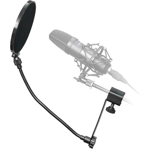 "Technical Pro MKPF2 6"" Clamp on Microphone Pop Filter (Black) - Rock and Soul DJ Equipment and Records"