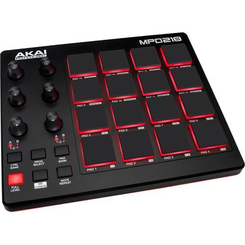 Akai Professional MPD218 USB MIDI Pad Controller - Rock and Soul DJ Equipment and Records