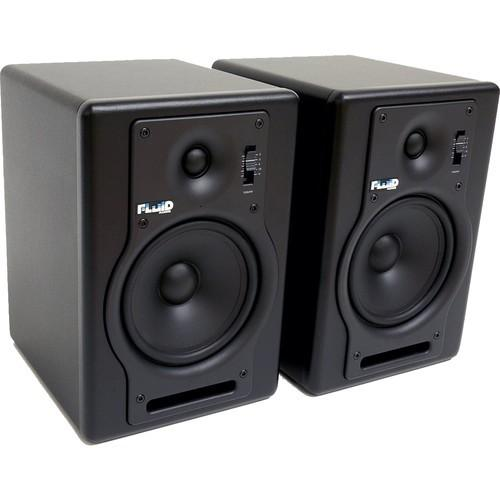 Fluid Audio Fader Series - F5 Two-Way Active Studio Monitors (Pair, Black) (Clearance Sale) - Rock and Soul DJ Equipment and Records