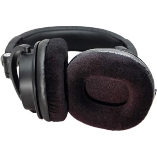 Audio Technica ATH-M50X Velour Replacement Earpads by DEKONI AUDIO (BLACK) - Rock and Soul DJ Equipment and Records
