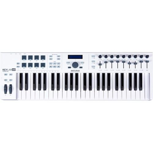 Arturia KeyLab Essential 49 - Universal MIDI Keyboard Controller (inc FREE Software Bundle) - Rock and Soul DJ Equipment and Records