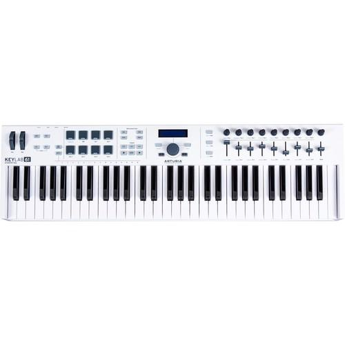 Arturia KeyLab Essential 61 - Universal MIDI Keyboard Controller (inc FREE Software Bundle) - Rock and Soul DJ Equipment and Records