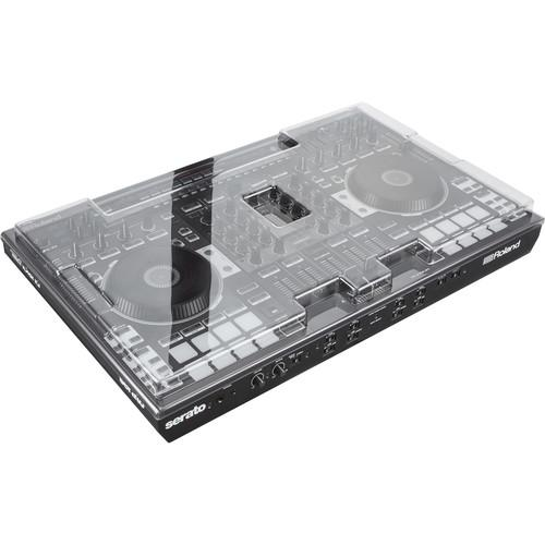 Decksaver DJ Controller Cover for Roland DJ-808 Controller (Smoked/Clear) - Rock and Soul DJ Equipment and Records