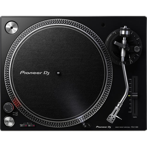 Pioneer PLX-500-K Direct Drive Turntable in Black - Rock and Soul DJ Equipment and Records