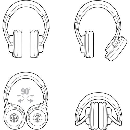 Audio Technica ATH-M40X Professional Monitor Headphones - Rock and Soul DJ Equipment and Records