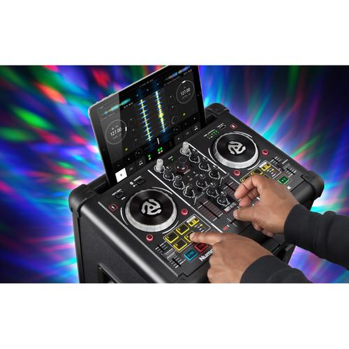 Numark Party Mix Pro - DJ Controller with Built-In Light Show & Portable Speaker