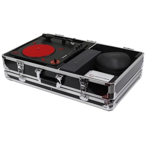 Odyssey Innovative Designs Krom Numark PT01 Scratch Turntable Case with Side Compartment (Black) - Rock and Soul DJ Equipment and Records
