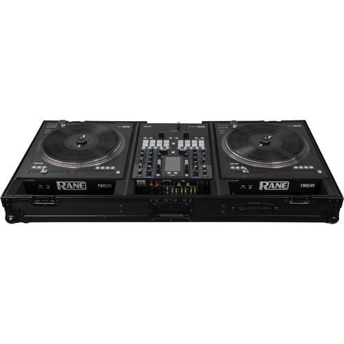 Odyssey Innovative Designs Black Label DJ Battle Coffin for Rane Seventy-Two Mixer and Two Rane Twelve Controllers