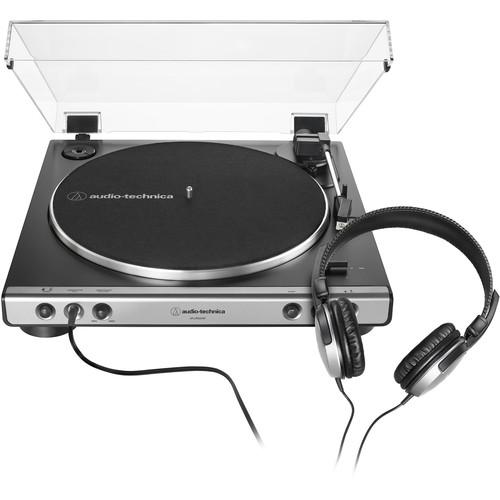 Audio-Technica Consumer AT-LP60XHP Stereo Turntable with Headphones (Gunmetal & Black)