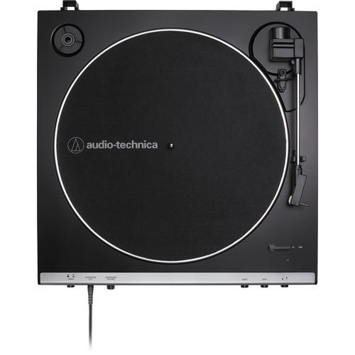 Audio-Technica Consumer AT-LP60XHP Stereo Turntable with Headphones (Gunmetal & Black) - Rock and Soul DJ Equipment and Records