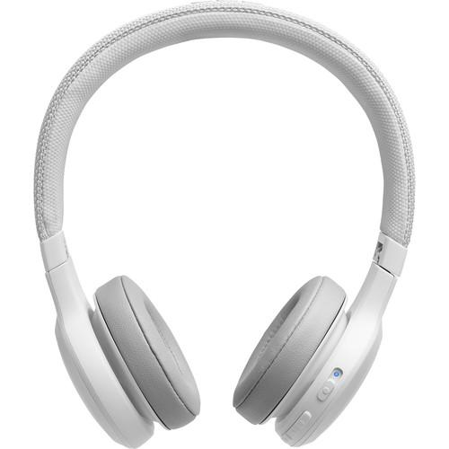 JBL LIVE 400BT Wireless On-Ear Headphones (White)