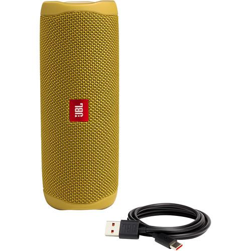 JBL Flip 5 Waterproof Bluetooth Speaker (Mustard Yellow) - Rock and Soul DJ Equipment and Records