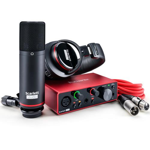 Focusrite Scarlett Solo Studio 2x2 USB Audio Interface with Microphone & Headphones