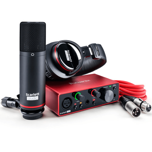 Focusrite Scarlett Solo Studio 2x2 USB Audio Interface with Microphone & Headphones (3rd Generation)