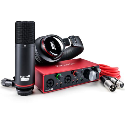 Focusrite Scarlett 2i2 Studio 2x2 USB Audio Interface with Microphone - Rock and Soul DJ Equipment and Records