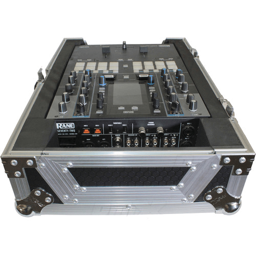"ProX XS-RANE72 Flight Case for 11"" Rane 72 DJ Mixer (Silver-on-Black)"