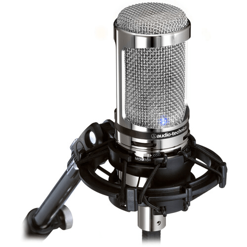 Audio-Technica AT2020USB+ Cardioid Condenser USB Microphone (Limited Edition Chrome) - Rock and Soul DJ Equipment and Records