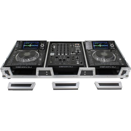 Odyssey Innovative Designs DJ Coffin for Two Large Format Tabletop CD/Media Players - Rock and Soul DJ Equipment and Records
