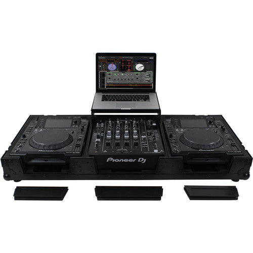 Odyssey FZGS12CDJWBL DJ Coffin for 2 Large Format CD Players & a 12inch Mixer