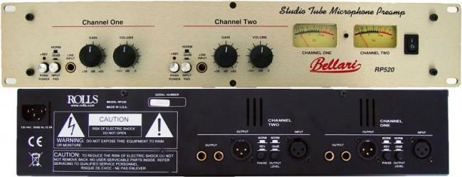 Rolls RP520 - Bellari Studio Tube Microphone Preamp - Rock and Soul DJ Equipment and Records