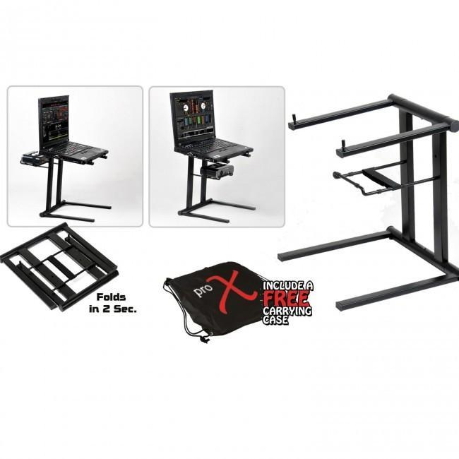T-LPS600 DJ Foldable Laptop Stand w/ Free Carrying Bag - Rock and Soul DJ Equipment and Records