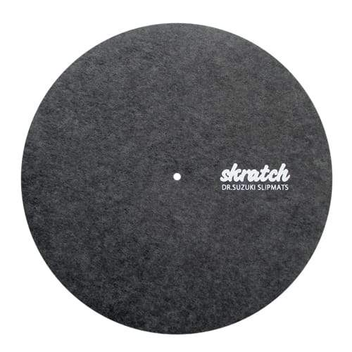 DR. SUZUKI GREY SKRATCH SLIPMATS WITH 2 SLIPSHEETS (DSS-SK01) - Rock and Soul DJ Equipment and Records