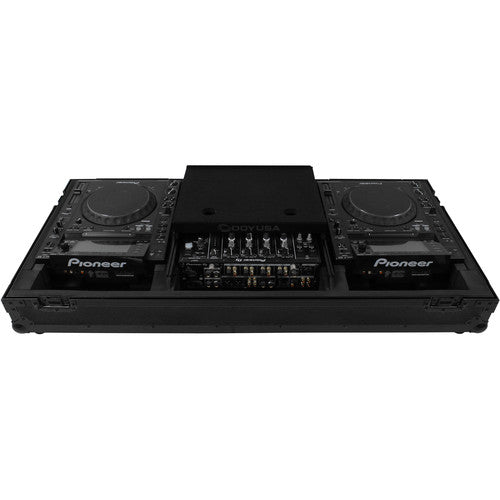 Odyssey FZGS12CDJWBL DJ Coffin for 2 Large Format CD Players & a 12inch Mixer - Rock and Soul DJ Equipment and Records