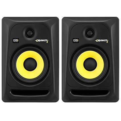 KRK Rokit 6 G3 Active Studio Monitor (Black) (Pair) + Two 3 ft. XLR Cables