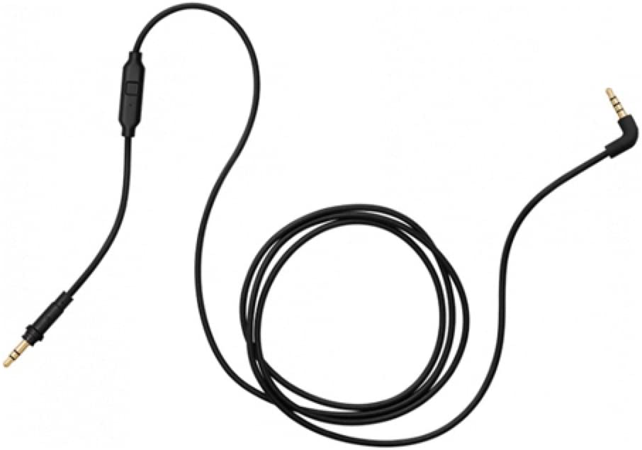AIAIAI TMA-2 Modular Headphone Cable C01 - Straight w/ 1 button mic - black - 3mm - 1.2m / 3.9 feet - Rock and Soul DJ Equipment and Records