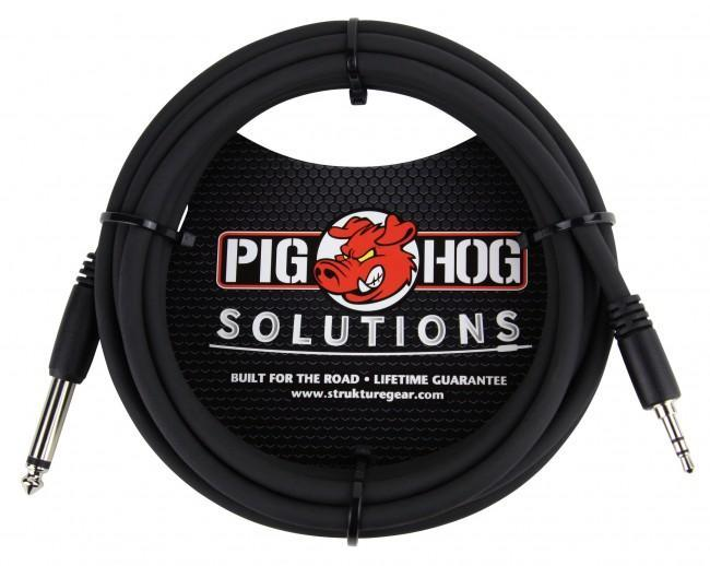"Pig Hog PX-35T4M Solutions 3.5mm TRS to 1/4"" Mono Adapter Cable (10 ft.) - Rock and Soul DJ Equipment and Records"