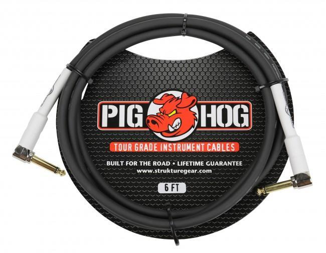 "Pig Hog PH6RR 6ft 1/4"" Right Angle - 1/4"" Right Angle 8mm Inst. Cable"