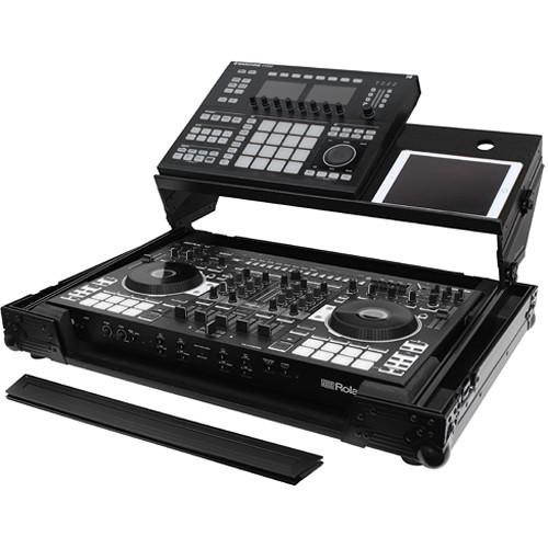 Odyssey Innovative Designs Black Label Producer Glide Style Case for Roland DJ-808 & Denon MC7000 - Rock and Soul DJ Equipment and Records