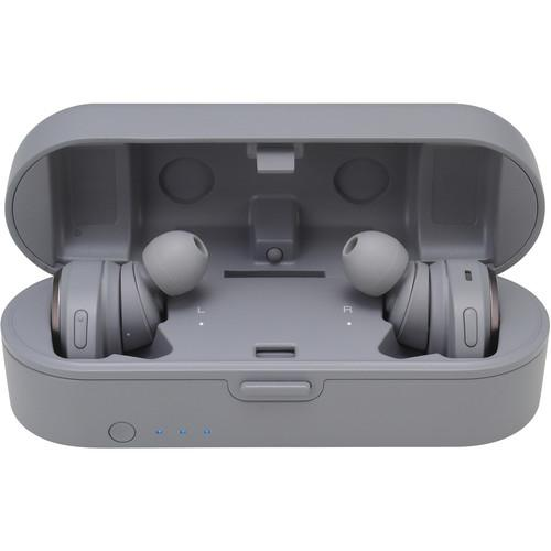Audio-Technica Consumer ATH-CKR7TW True Wireless In-Ear Headphones (Gray) - Rock and Soul DJ Equipment and Records