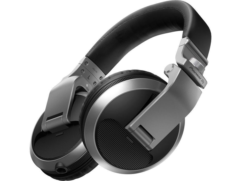 Pioneer HDJ-X5-S DJ Headphones in Silver on Rock and Soul