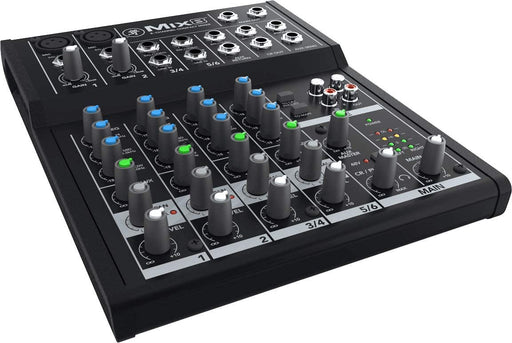 Mackie Mix Series, 8-Channel Compact Mixer with Studio-Level Audio Quality (Mix8) - Rock and Soul DJ Equipment and Records