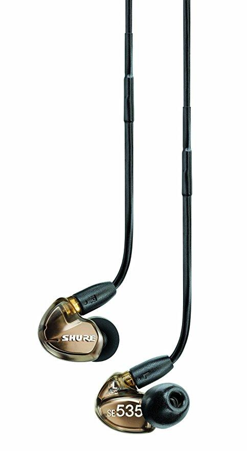 Shure SE535 Sound Isolating̢‰Û_å¢ Earphones in Metallic Bronze