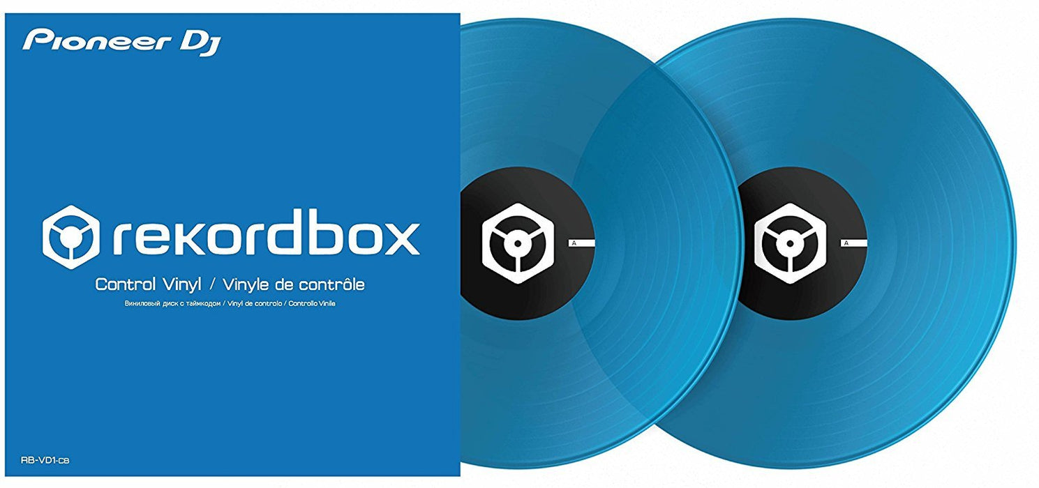 Pioneer RB-VD1-CB DVS Control Vinyl for Rekordbox DJ 2xLP in Clear Blue on Rock and Soul