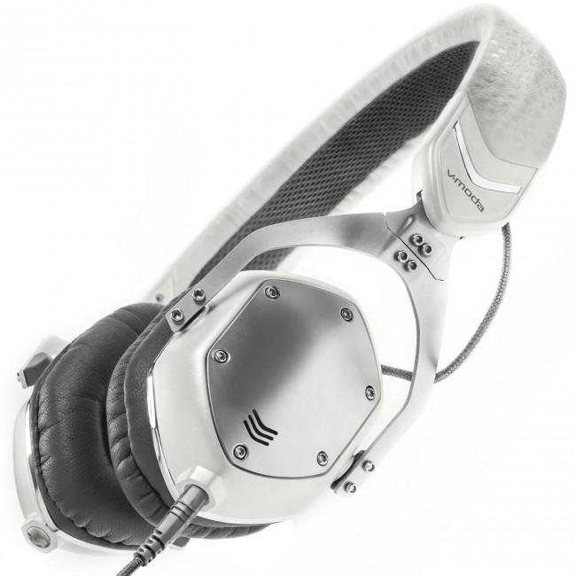V-MODA XS On-Ear Folding Design Noise-Isolating Metal Headphone (White Silver) - Rock and Soul DJ Equipment and Records
