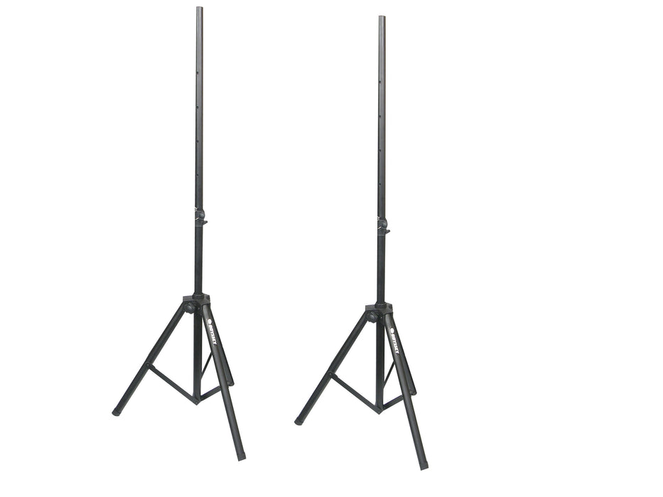 Odyssey Cases LTS2X2B New 8 Feet 2 Dual Speaker Stand Pack With Carrying Bag - Rock and Soul DJ Equipment and Records
