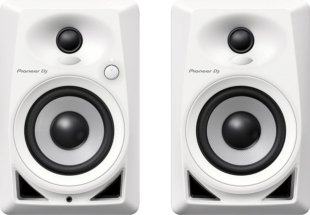 "Pioneer DM-40-W 4"" Desktop Monitor Speakers (pair) in White - Rock and Soul DJ Equipment and Records"