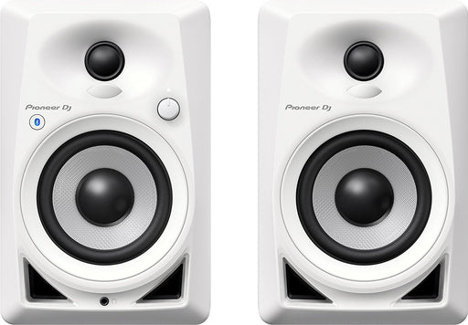 "Pioneer DM-40BT-W 4"" Bluetooth Desktop Monitor Speakers (pair)- White on Rock and Soul"