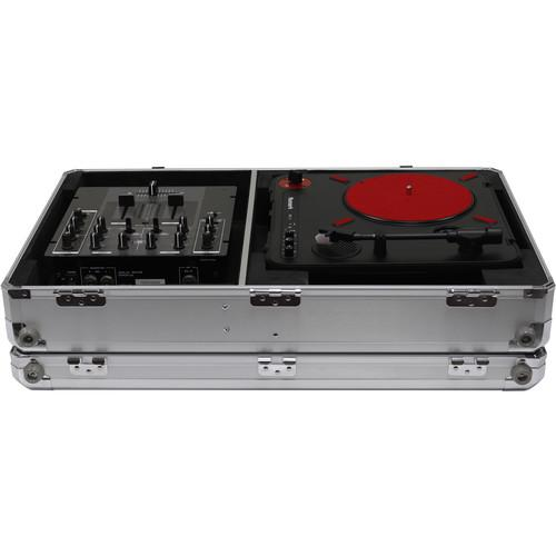 Odyssey Innovative Designs Krom Series Numark PT01 Scratch Portablist Turntable Case (Silver) - Rock and Soul DJ Equipment and Records
