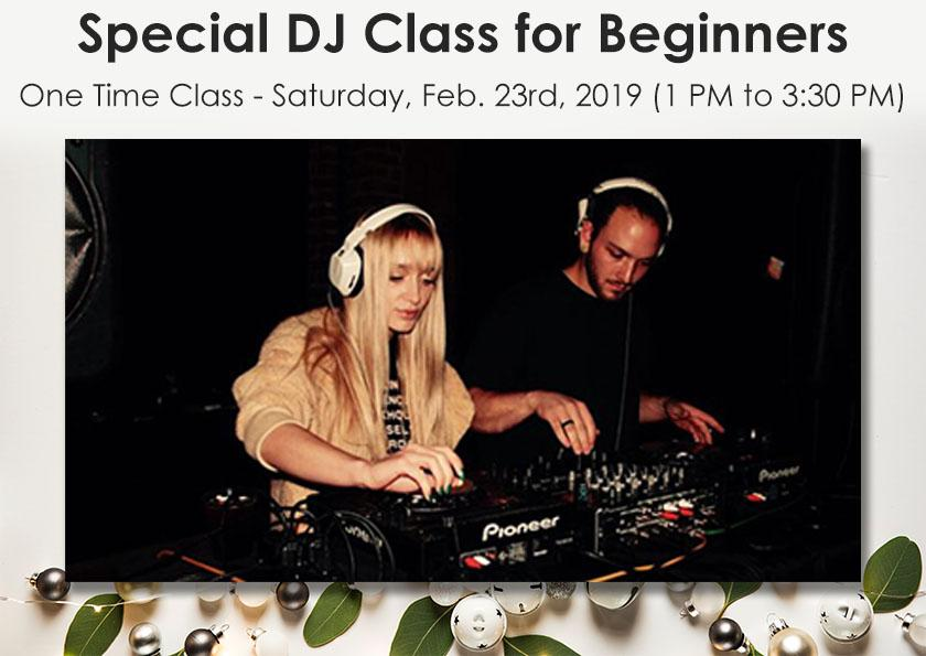 Special DJ Class for Beginners - Rock and Soul DJ Equipment and Records