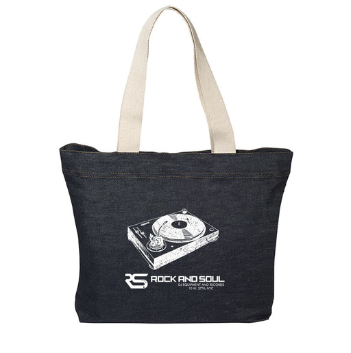 Rock and Soul exclusive Denim Tote - Rock and Soul DJ Equipment and Records